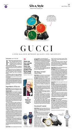 Gucci: A Fine Balance Between Quality and Creativity|Epoch Times #Watch #Style…