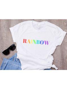 38dee239a Rainbow t-shirt, Pride Shirt, LGBT shirt, Lesbian T-shirt, Gay Pride shirt,  LGBT Pride fashion, Lesbian shirt, Equality, Gay Pride Parade