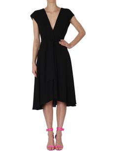 Onyx Crepe Audrey Dress   David Jones