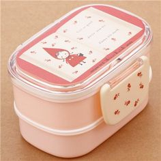 pink Little Red Riding Hood book of fairy tales Bento Box Lunch Box from Japan