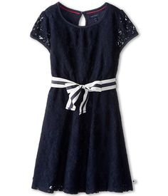 Tommy Hilfiger Big Solid Box Pleat Skirt Kids School Uniform Clothes for Little /& Big Girls