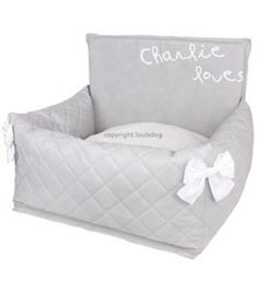 """Cute Doggie Beds 'My Driving Kit""""' Designer Louis Dog Silver Gray"""