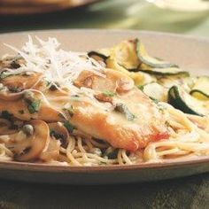 Chicken Piccata with Pasta & Mushrooms - EatingWell.com