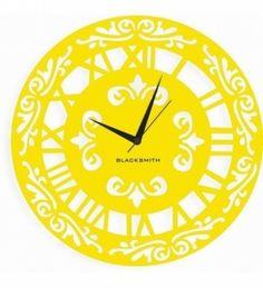 Blacksmith fusion yellow wall clock