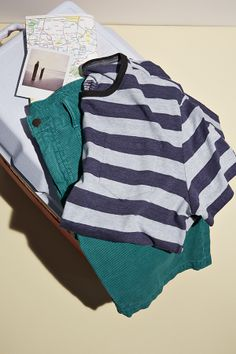 Style that's adventure approved. Gear up for your summer journey in Gap stripes and colored cords. #summerloves