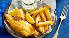 and chips - with sparkling wine batter - Fast Ed. spray fish with malt ...
