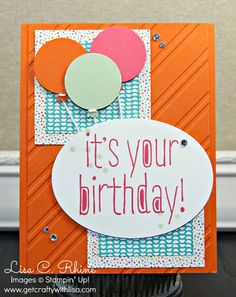 Get Crafty with Lisa: Birthday Balloons for Creative Challenge Club (CCC05)