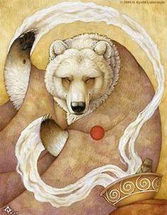 "Spirit Totem Animals: ""Healing Bear,"" by Kyoht Art Et Illustration, Illustrations, Native Art, Native American Art, Native Style, Tattoo Indio, Art D'ours, Bear Totem, Animal Spirit Guides"