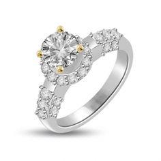 0.95 ct Fashional Diamond Engagement Ring Setting 18k
