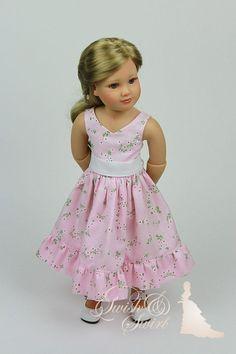 Soft pink Parisienne dress for Kidz'n'Cats dolls by SwishAndSwirl