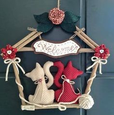 41 Cutest Cat Ideas – # Cat # Ideas … – 41 cutest cat ideas – # f… - Katzen Christmas Makes, Christmas Wreaths, Christmas Crafts, Christmas Decorations, Christmas Ornaments, Holiday Decor, Cat Crafts, Home Crafts, Diy And Crafts