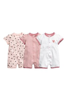 b0d5ef41a67d Jumpsuits in soft organic cotton jersey with short sleeves