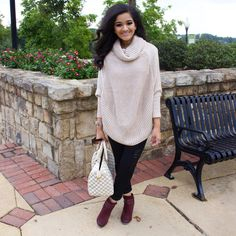 Poncho with booties #fallstyle #falllook   Instagram:my.southern.style