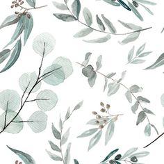 Fabric JUMBO Botanical Wallpaper Eucalyptus Native Edition 1 Large Scale Wallpaper
