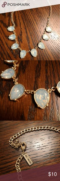 The Limited statement necklace Foggy blue statement necklace by the Limited The Limited Jewelry Necklaces