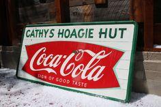 Vintage Coca Cola Sign-Fishtail Coke Sign/Large by AmericanAntique