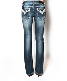 Look at this Dark Blast New York Bootcut Jeans on #zulily today!