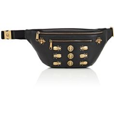 Gucci Men's Embellished Belt Bag ($1,980) ❤ liked on Polyvore featuring men's fashion, men's bags, black, gucci mens bag, mens fanny pack, mens waist bag, mens fanny bag and mens belt bag