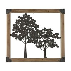 Sherwood-Tree Wall Décor In Natural Wood Frame 138-044