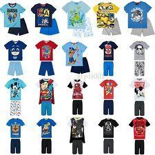 Boys Girls Kids Baby Toddler Teenage Characters Pyjamas pjs Age 1-12 years