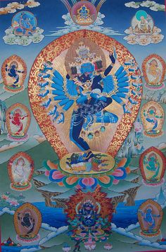 Hevajra With 8 Dakinis Painting