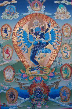 Hevajra With 8 Dakinis Painting