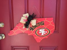 49ers door hanger custom nfl door hanger by BoogieBoardCreations