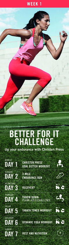 Welcome to week 1 of the 90-Day Better For It Challenge. Get ready to tackle everything from yoga and endurance runs to gym and training challenges.