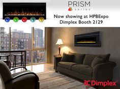 Set a color, set a mood! The Prism electric fireplace sparkles with a full spectrum of RGB colors. Flames illuminate the diamond-like acrylic ice ember bed in a show-stopping effect. If you are looking for a linear wall mount fireplace that will add ambiance to any space, Prism is both beautiful and versatile. @HPBExpo attendees - experience Prism in person at our show booth 2129. #PrismFireplace #revillusionbydimplex www.dimplex.com