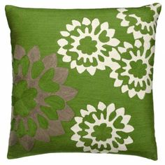 Embroidered pillow by Judy Ross Textiles