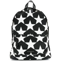Givenchy Star Print Backpack ($1,320) ❤ liked on Polyvore featuring bags, backpacks, kirna zabete, kzloves /, prints please, daypack bag, logo bags, star backpack, print bags and givenchy bags