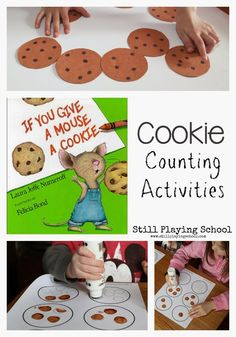 Still Playing School: If You Give a Mouse A Cookie Counting Activities -math activities Numbers Preschool, Preschool Literacy, Preschool Lesson Plans, Preschool Books, Literacy Activities, Toddler Activities, Preschool Activities, Montessori Elementary, Science Classroom