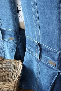 Cute detail- using jeans to cover chairs! Denim Furniture, Upcycle Home, Denim Decor, World Market Dining Chairs, Restoration Hardware Dining Chairs, Slipcovers For Chairs, Ikea Chairs, Arm Chairs, Accent Chairs