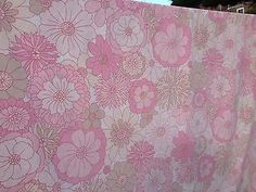 1970s pink floral #vintage retro double #duvet #cover, fab and groovy!, View more on the LINK: http://www.zeppy.io/product/gb/2/252403021373/