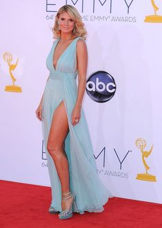 Hedi Klum in Alexandre Vauthier Couture at the Emmys 2012.  Very pretty and sexy dress.  Love it!