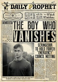 Harry Potter Daily Prophet Poster by TheZeroRoom on Etsy poster movie Faux Daily Prophet Poster The Boy Who Vanishes Harry Potter Tumblr, Harry Potter World, Harry Potter Poster, Harry Potter Plakat, Memes Do Harry Potter, Magie Harry Potter, Harry Potter Thema, Theme Harry Potter, Mundo Harry Potter