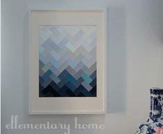 paint chip herringbone art