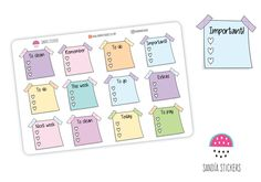 Post it Checklist Planner Stickers, To do Stickers, Life Planner Stickers, Erin Condren, Personal Planner, Happy Planner, Filofax by SandiaStickers on Etsy