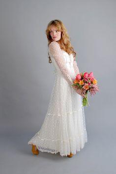 1970s white gunne sax wedding dress // vintage 70s by coralvintage