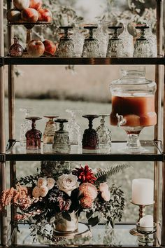 How To Have The Perfect Jewel Tone Fall Boho Chic Wedding apple cider bar boho wedding