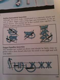 Italian buttonhole insertion and faggot insertion - stitches as alternatives to seams Drawn Thread, Fabric Manipulation, Sewing Techniques, Textile Art, Embroidery Stitches, Smocking, Needlework, Cross Stitch, Arts And Crafts