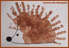 Top 40 Beispiele für Büttenpapier-Events - Everything About Kindergarten Kids Crafts, Fall Crafts For Toddlers, Daycare Crafts, Craft Activities For Kids, Toddler Crafts, Arts And Crafts, Autumn Crafts, Autumn Art, Hedgehog Craft