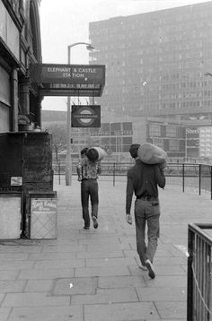 Elephant and Castle, August 1969.