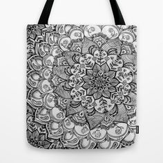 Love! :: floral doodle Tote Bag