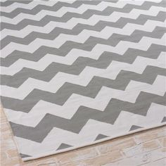 Ziggy Chevron Indoor Outdoor RugSaylor Indoor Outdoor Rug I got this for our foyer and it looks  . Grey Chevron Living Room Rug. Home Design Ideas