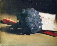 Bouquet of violets - Edouard Manet - WikiArt.org