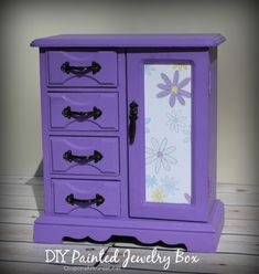 Thrift Store Jewelry Box Makeover: How to Make a Painted Jewelry Box - Coupons Are Great