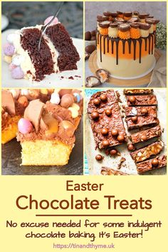 If an excuse for indulging in chocolate is needed, Eastertide is it. The six chocolate treats highlighted in this post are definitely indulgent. Some require a little patience and skill to put together whilst others are easy enough to get the kids involved. #TinandThyme #ChocolateTreats #EasterBaking #EasterChocolate #ChocolateBakes Easter Chocolate, Chocolate Treats, Easter Recipes, Patience, Food And Drink, Vegetarian, Vegan, Baking, Breakfast