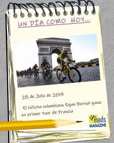 ¡Café con aroma de campeón! Por primera vez en la historia #UnDiaComoHoy un colombiano rompe paradigmas en Les ##champselysees coronándose campeón del #tourdefrance. #Efemerides #ciclismo #uci #deporte