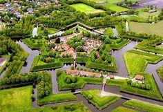 Fortaleza de Bourtange en Groninga, Holanda.